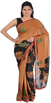 Vinay Traders Printed Banarasi Handloom Silk Sari