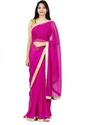 Aasmara Plain Daily Wear Chiffon Sari