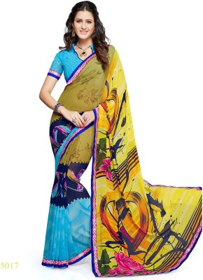Airsfashion Printed Daily Wear Chiffon Sari