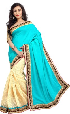 Crafts N Culture Embriodered, Woven Fashion Silk, Net Sari