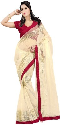 Utsavsilk Embriodered Fashion Net Sari