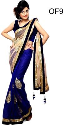Elevate Women Embriodered Fashion Chiffon, Net Sari
