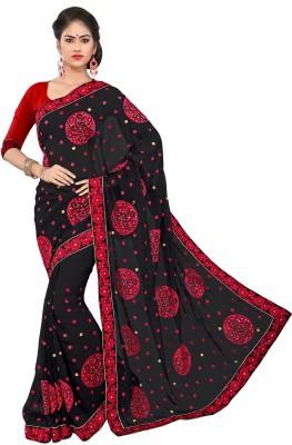 Indian Ethenic Embriodered Bollywood Chiffon Sari