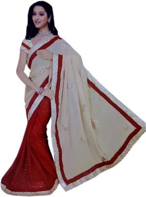StylishFashion Printed Fashion Handloom Georgette Sari