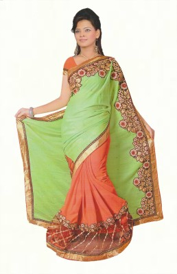Agarwal Fashions Solid, Embriodered Fashion Chiffon Sari