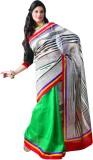 Sunaina Striped Georgette Saree (Multico...