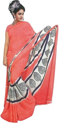 MANSHI FASHION Printed Fashion Georgette Sari