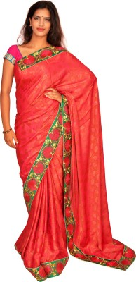Jagadamba Self Design Bollywood Silk Sari