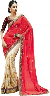 Sunrise International Embriodered Bollywood Georgette Sari