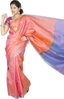 Muta Fashions Self Design Kanjivaram Handloom Pure Silk Sari