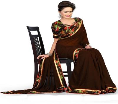 ambey shree trendz Solid Jamdani Georgette Sari