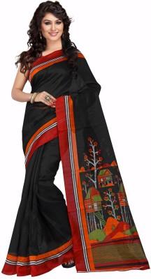 TRENDZ STYLE Printed Fashion Cotton Linen Blend Sari