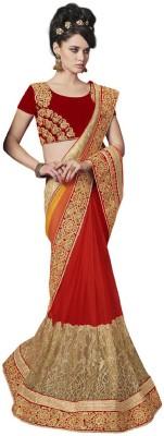 DesiButik Embellished Fashion Chiffon, Net Sari