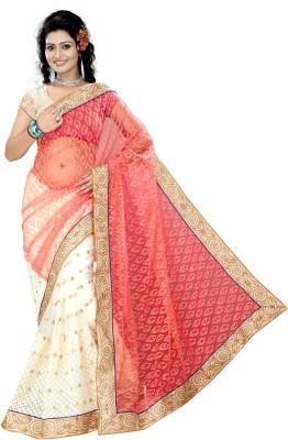 Anu Creation Embriodered Fashion Brasso, Net Sari