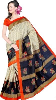 shobhit Printed Bhagalpuri Raw Silk Sari