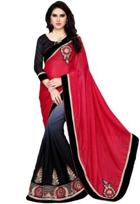 Hoor Printed Daily Wear Georgette, Jacquard Sari