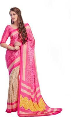 Anu Creation Printed Fashion Crepe Sari