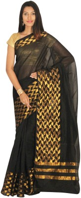 Indusdiva Geometric Print Fashion Cotton Sari