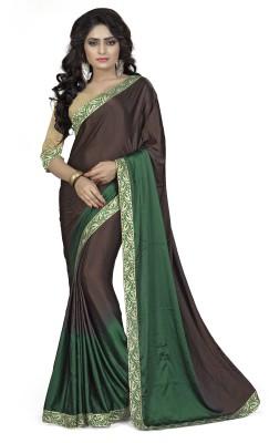 Om Shree Vallabh Self Design Banarasi Satin Sari