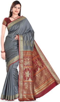 Deshna Self Design Banarasi Handloom Art Silk Sari