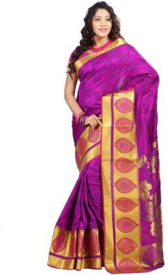 Sonal Trendz Self Design Kanjivaram Art Silk Sari