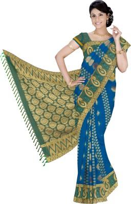 Srinidhi Silks Self Design Kanjivaram Art Silk Sari