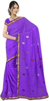 Kanupriya Embriodered Fashion Chiffon Sari