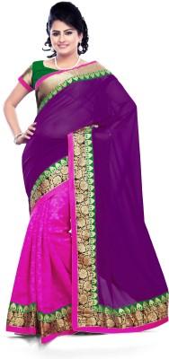 TrynGet Printed Fashion Georgette Sari