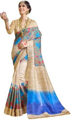 SGM Chevron, Geometric Print, Striped, Printed Fashion Art Silk Sari