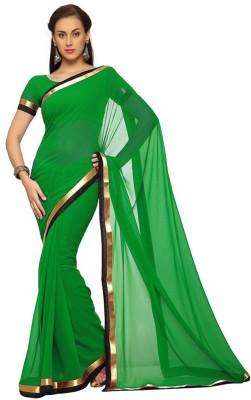 Shyam Creations Solid Daily Wear Handloom Georgette Sari