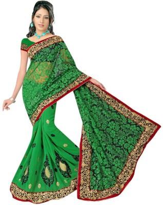Eagle Fashion Embriodered Bollywood Handloom Georgette Sari