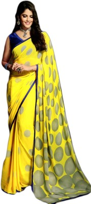 Ganghs Polka Print Fashion Georgette Sari