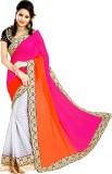 Glory Sarees Self Design Bollywood Jacqu...