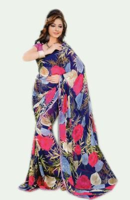 Venilal Printed Fashion Synthetic Georgette Sari
