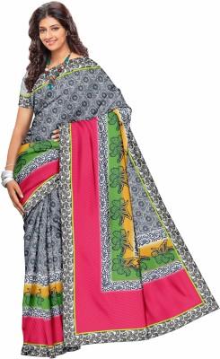 Cynthia Lifestyle Floral Print Fashion Net Sari