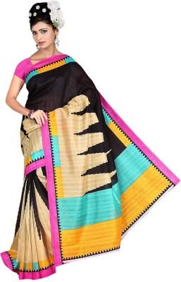 Keya Sarees Printed Bhagalpuri Silk Sari