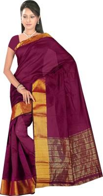 Being Feminine Plain Daily Wear Poly Silk Sari