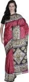 Prakum Printed Fashion Handloom Silk Sar...