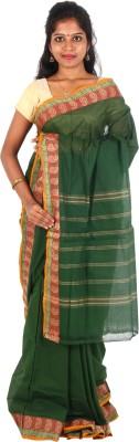 Orchids Plain Chettinadu Handloom Cotton Sari