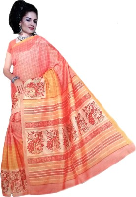 Jannat Printed Bollywood Cotton, Silk Sari