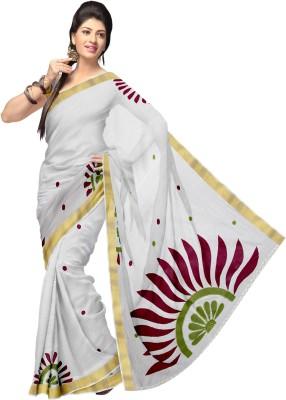 Komal Sarees Embriodered, Woven, Self Design Bollywood Cotton Sari