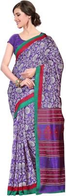 Nanda Silk Mills Printed Fashion Silk Cotton Blend Sari