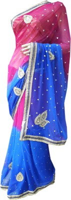 Simple sobar Embriodered Fashion Synthetic Sari