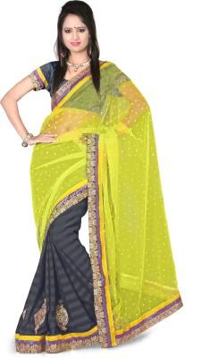 Aanchal Fashion Polka Print Fashion Net Sari