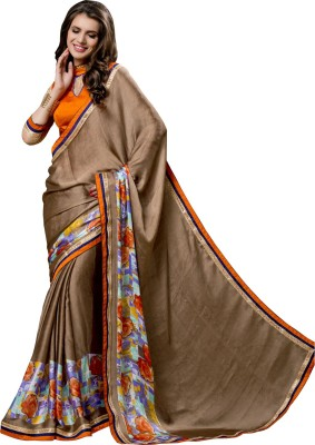 ethniccrush Printed Fashion Satin Sari