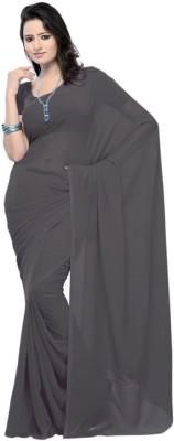 Takshah Enterprises Plain Daily Wear Georgette Sari