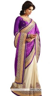 Trishulom Cloth's Online Embriodered Fashion Jacquard Sari