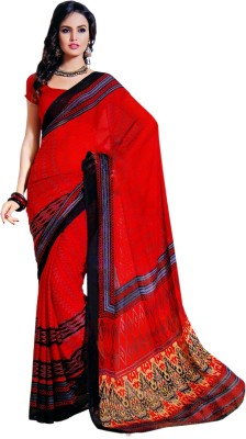 PG Creations Printed Daily Wear Georgette Sari