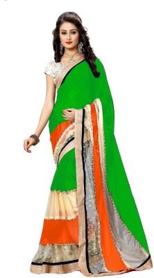 Morpankh Enterprise Self Design Bollywood Lycra Sari