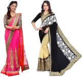 Sparkle Tradition Solid Bollywood Chiffo...